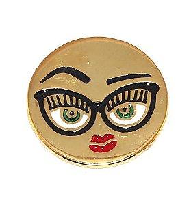 Kit Revenda 20 Pin Botton Broche Emoticons Beijo Oculos