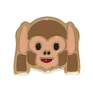 Kit Revenda 20 Pin Botton Broche Emoticons Macaco Surdo