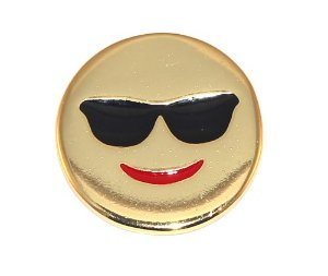 Kit Revenda 10 Pin Botton Broche Emoticons Feliz Oculos