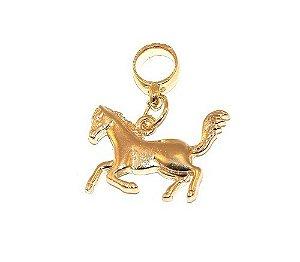Berloque Pingente Cavalo Country Folheado A Ouro 18k