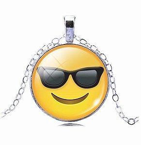Colar Emoticons Emojis Smiley De Boa Folheado Prata