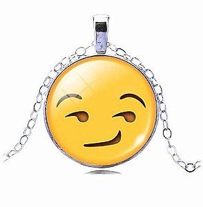 Colar Emoticons Emojis Smiley Ai Para Folheado Prata