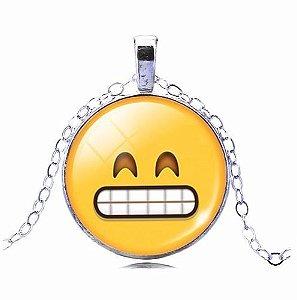 Colar Emoticons Emojis Smiley Ops Algo Errado Folheado Prata