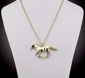 Colar Cavalo Country Folheado A Ouro 18k - Lindo - Promoção