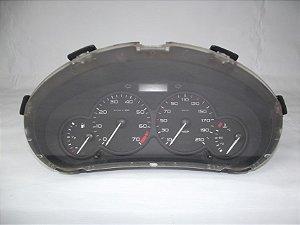 Painel De Instrumentos Peugeot 206 Fundo Preto C/ 1 Tomada