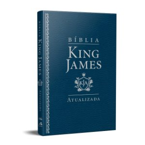 BÍBLIA KING JAMES ATUALIZADA LUXO SLIM AZUL