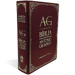 BÍBLIA COM COMENTÁRIOS DE ANTONIO GILBERTO - VINHO