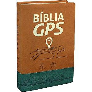 BÍBLIA GPS MARROM/VERDE