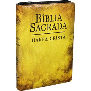 BÍBLIA RC HARPA FLORES ZÍPER