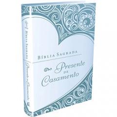 BÍBLIA PRESENTE DE CASAMENTO - CAPA AZUL