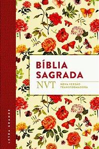 BÍBLIA NVT FLORES LETRA GRANDE FLEXÍVEL