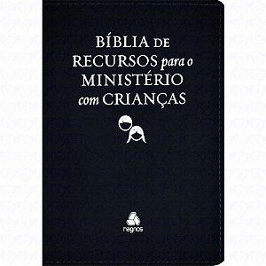 BÍBLIA DE RECURSOS PARA MINISTERIO COM CRIANCAS LUXO PRETA