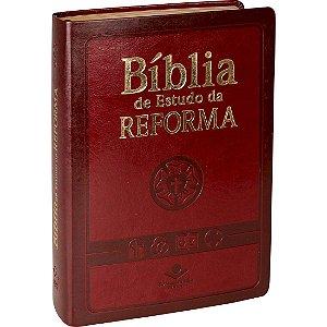 BÍBLIA DE ESTUDO DA REFORMA - VINHO C/ ÍNDICE
