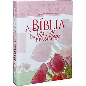 BÍBLIA DE EST. DA MULHER RC TULIPA GR.