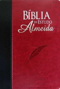 BÍBLIA DE ESTUDO ALMEIDA VINHO