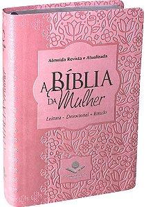 A BÍBLIA DA MULHER MÉDIA ROSA CLARO