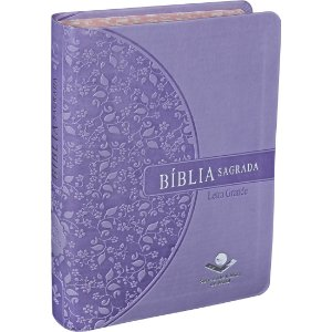 BÍBLIA RA LETRA GRANDE - BORDA FLORIDA VIOLETA