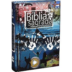 BÍBLIA NTLH C/ NOTAS P/ JOVENS CAPA DURA AZ.