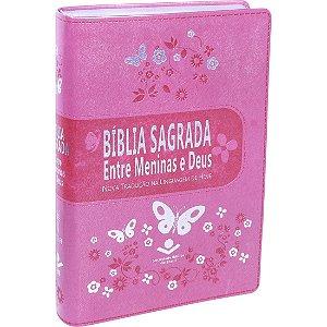 BÍBLIA ENTRE MENINAS E DEUS ROSA