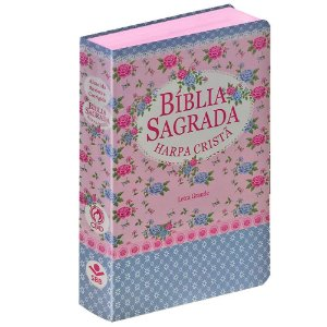 BÍBLIA C/ HARPA CRISTÃ LETRA GRANDE FLORIDA AZUL