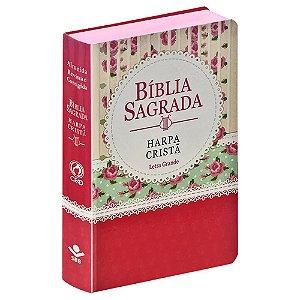 BÍBLIA C/HARPA CRISTÃ LETRA GRANDE FLORIDA RENDA