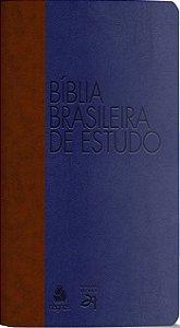 BÍBLIA BRASILEIRA DE ESTUDO - AZUL/ MARROM