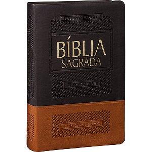 BÍBLIA LETRA GIGANTE MARROM ESCURO E MARROM CLARO