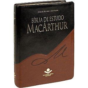BÍBLIA DE ESTUDO MACARTHUR PRETA/MARROM