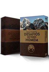 BÍBLIA DE ESTUDO DESAFIOS DE TODO HOMEM - MARROM