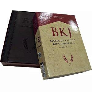 BÍBLIA KING JAMES 1611 ESTUDO HOLMAN PRETO