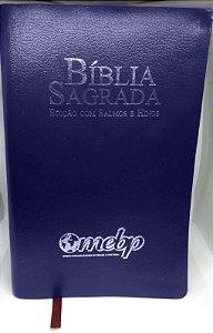 BÍBLIA COM SALMOS E HINOS LETRA GIGANTE AZUL
