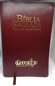 BÍBLIA COM SALMOS E HINOS LETRA GIGANTE VINHO