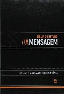 BÍBLIA DE ESTUDO A MENSAGEM LUXO PRETO
