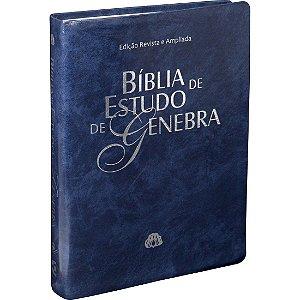 BÍBLIA DE ESTUDO DE GENEBRA -- AZUL