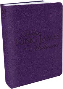 BIBLIA KING JAMES PARA MULHERES - ROXA