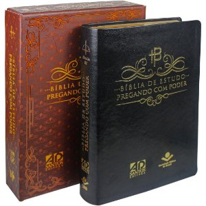 BÍBLIA DE ESTUDO PREGANDO C/PODER  PRETA