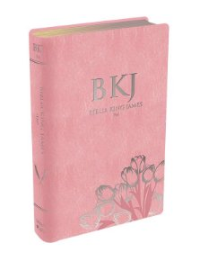 BÍBLIA BKJ KING JAMES FIEL 1611 - ROSA