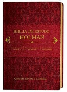 BÍBLIA DE ESTUDO HOLMAN  VINHO