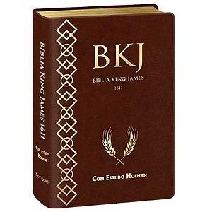 BIBLIA KING JAMES ESTUDO HOLMAN MARROM