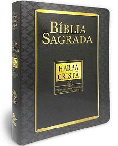 BÍBLIA RC LETRA GIGANTE COM HARPA CINZA