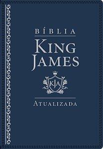 BÍBLIA KING JAMES ATUALIZADA DE ESTUDO LETRA GRANDE AZUL