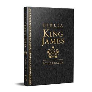 BÍBLIA KING JAMES ATUALIZADA LUXO SLIM PRETA
