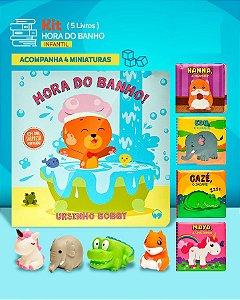 KIT HORA DO BANHO - LIVROS DE PLÁSTICO PARA BANHO