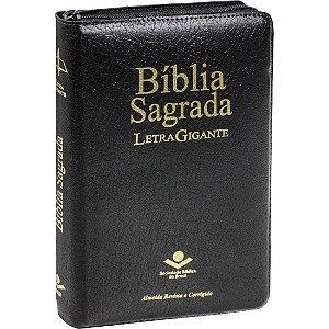 BÍBLIA RC LETRA GIGANTE ZÍPER ÍNDICE PRETA