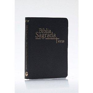 BÍBLIA NVI MEDIA LUXO PRETA