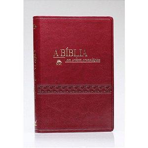 BIBLIA NVI EM ORDEM CRONOLÓGICA LUXO VINHO