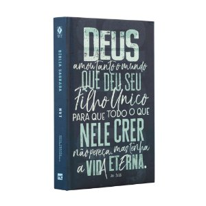 BÍBLIA NVT JOÃO 3.16 AZUL CAPA DURA LETRA NORMAL