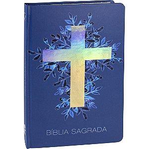 BÍBLIA RA CAPA DURA CRUZ PRATA