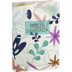 BÍBLIA RA CAPA DURA FLORES BEIRA ROSA