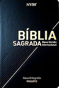 BÍBLIA NVI LUXO PRETA GIGANTE